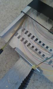Fiber splicing tray